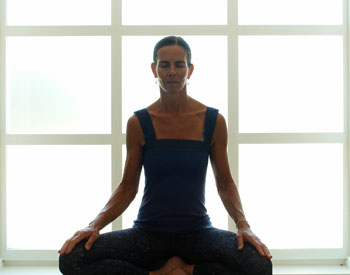 Seated yoga position